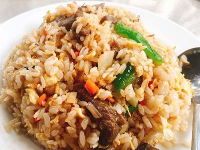 青椒牛肉炒飯