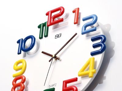 台灣製造 時尚3d彩色時鐘