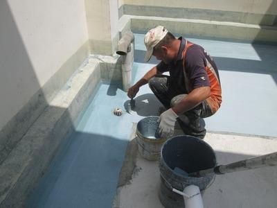 防水不織布施作