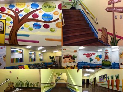 幼兒園牆面美化製作