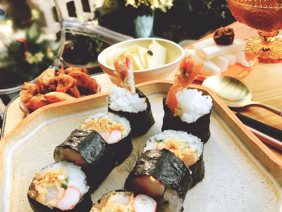 炸蝦壽司套餐