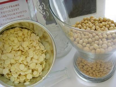 黃豆及杏仁原料