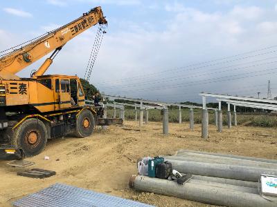 太陽能鋼構按裝