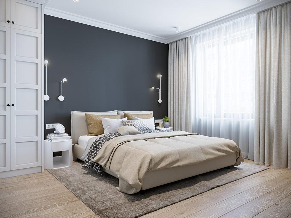 床頭靠實牆代表「有靠山」,避免犯小人而職場不順遂。